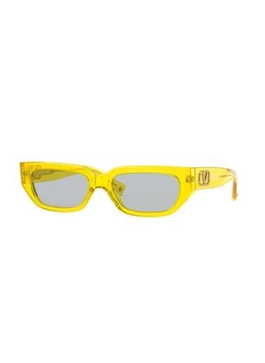 Valentino Valentino Va4080 516487 53 Ekartman Kadın Güneş Gözlüğü Sarı
